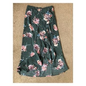 Waterfall Ruffle High-Waisted Skirt